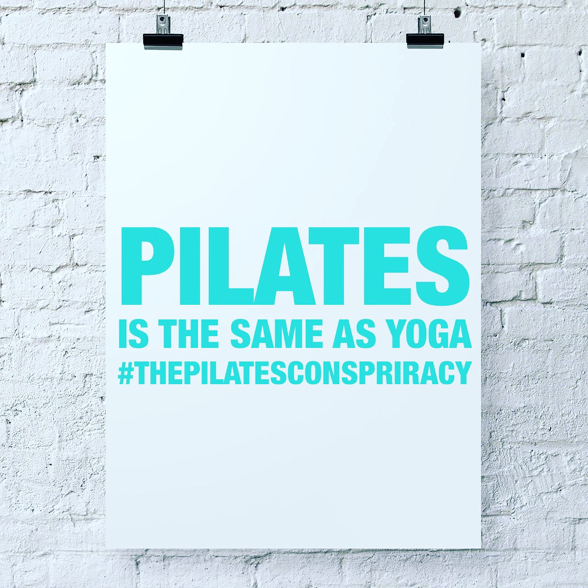 Pilates is the same as Yoga
