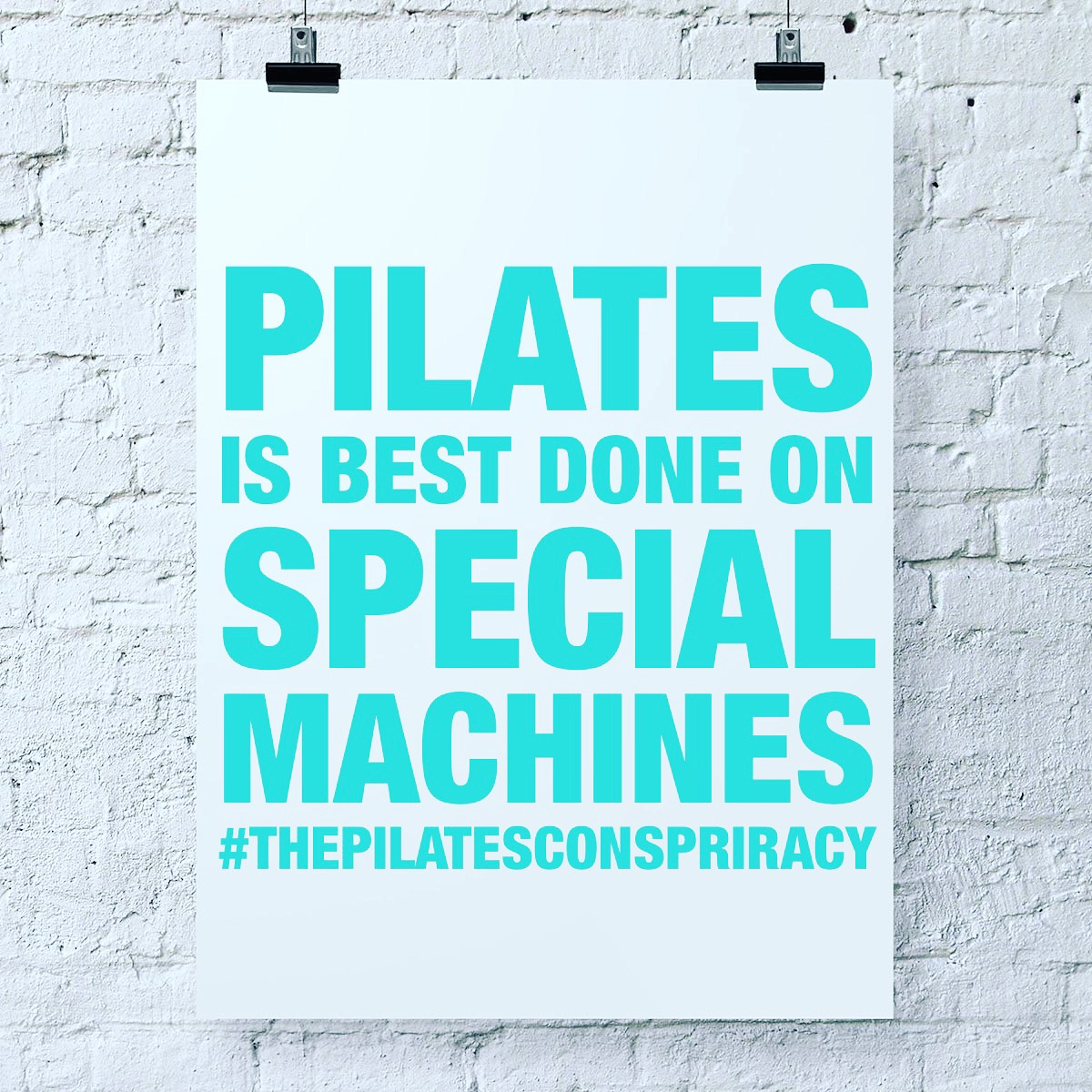 Pilates is best done on special machines