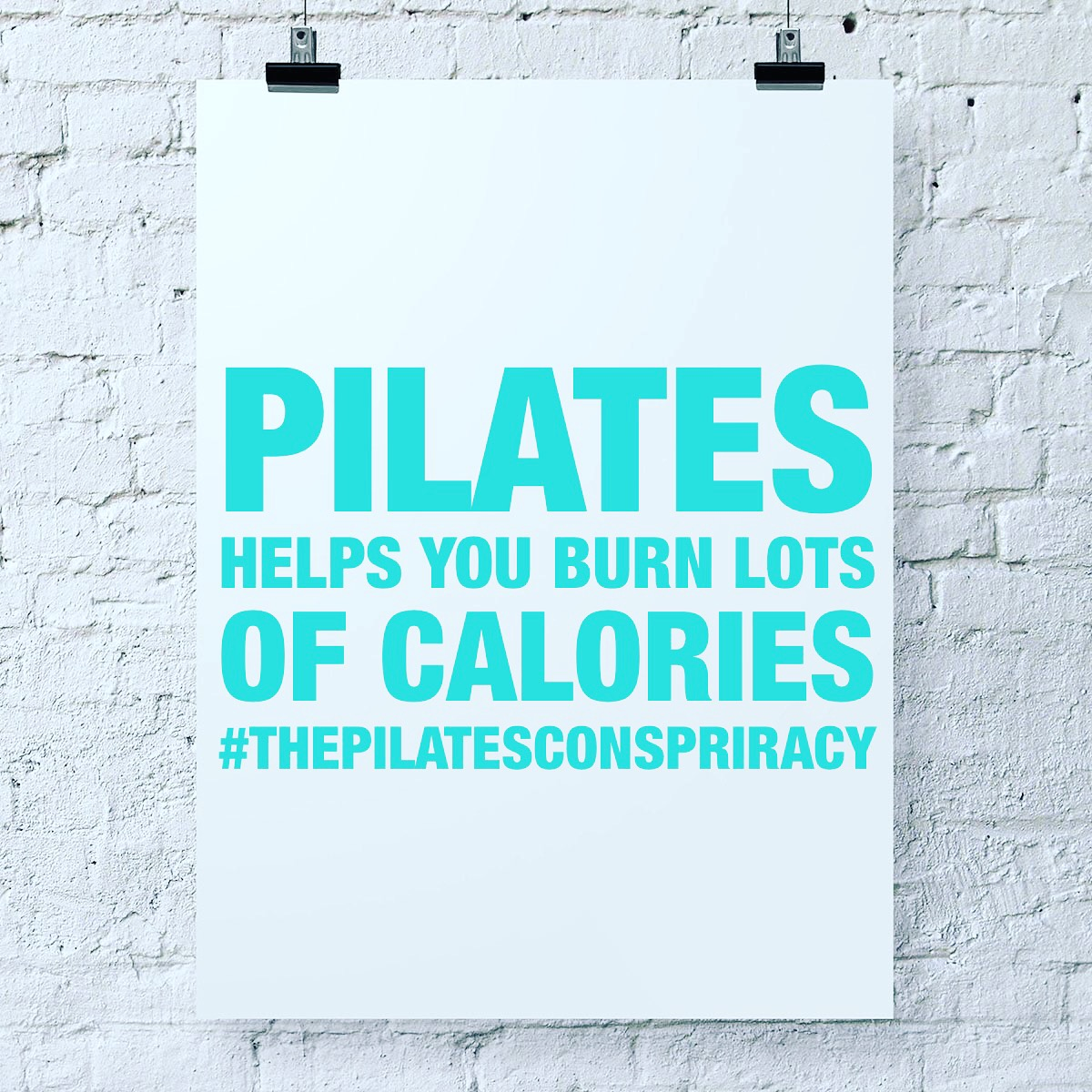 Pilates helps you burn lots of calories